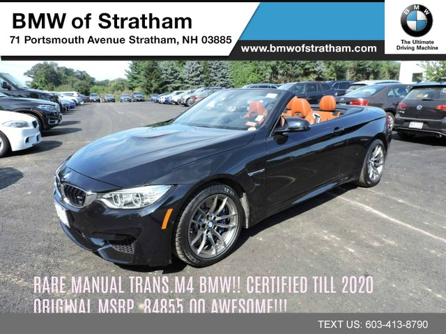 Certified Pre Owned 2016 Bmw M4 Convertible Manual Transmission Executive Pkg Navi Harmankardon Lighting Dri